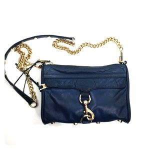 Rebecca Minkoff mini mac navy blue purse